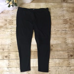 Maurice's In Motion Black Moto Yoga Pants Size 3X